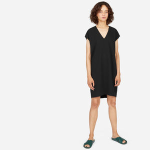 Everlane Japanese GoWeave V-Neck Cocoon Dress